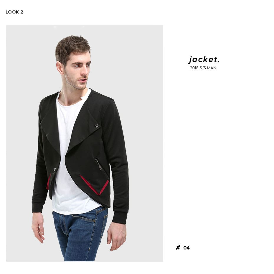 Outerwear Pocket Design Slim Fit Cotton Brand Mens Jackets