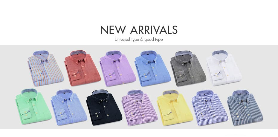 Anti-wrinkle Brand Soft Long Sleeve Twill Men Shirts