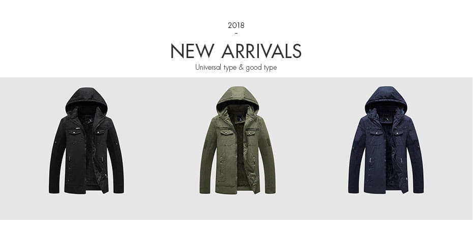 Overcoat Hooded Man Jackets High Quality Fabric Mens