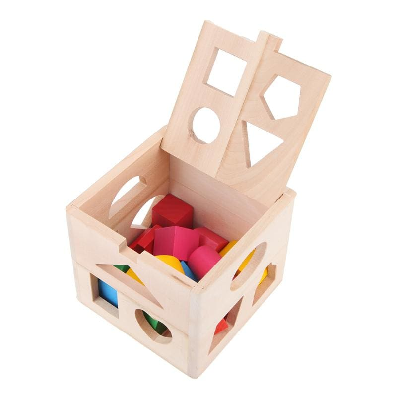 13 Holes Intelligence Box Wooden Shape Sorter Baby Cognitive and Matching Building Blocks Kids Children Early Eductional Toys
