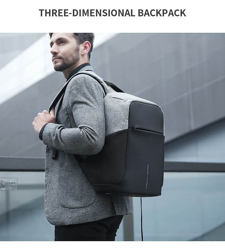 Multifunction USB charging 15inch Laptop Backpacks For Teenager Fashion Male Mochila Travel backpack anti thief