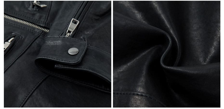 Leather Punk Outerwear High Quality Motorcycle Male Solid Overcoats