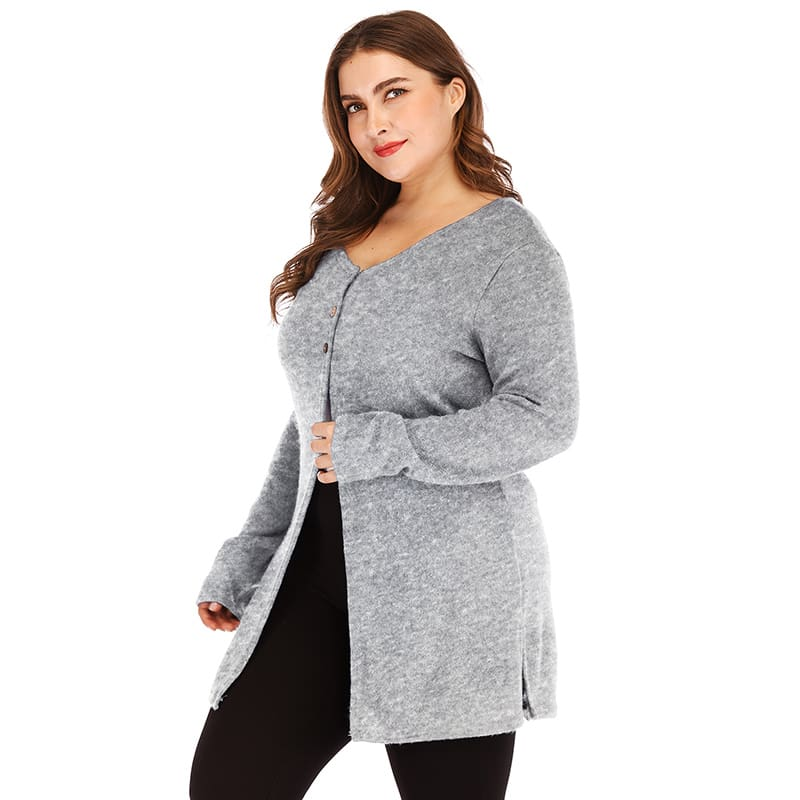 Spring Knitted Cardigan Women baggy sweater