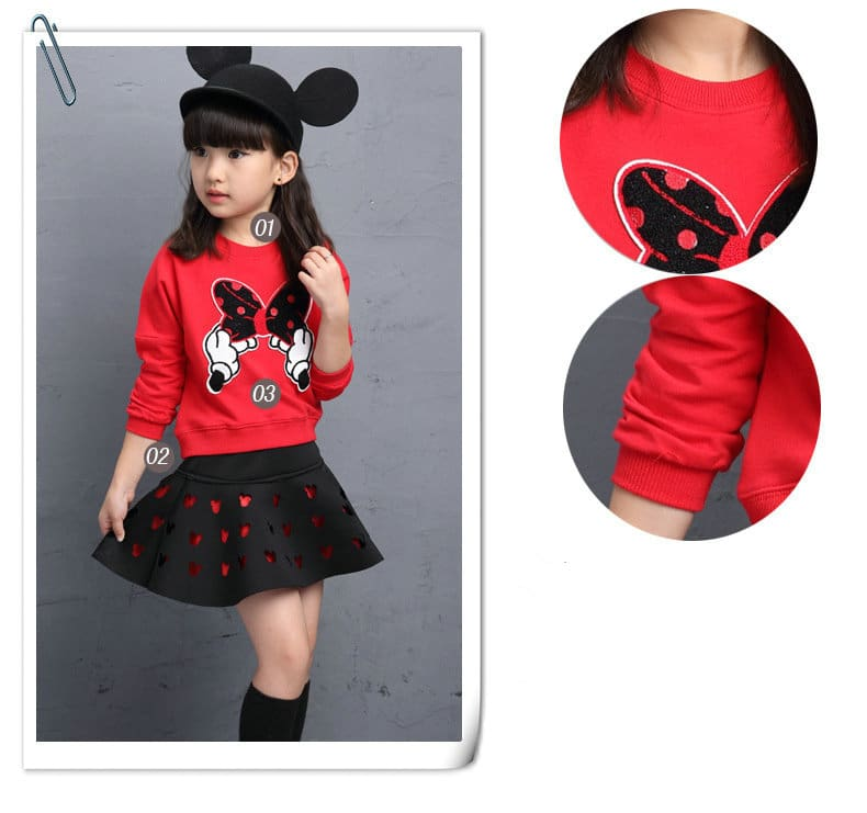 Toddler Girls Clothing Sets Back To School Outfit Girls Skirt Set Spring Autumn Winter tracksuit for 4 5 6 7 8 9 10 11 12 Years