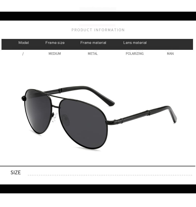 Mens Sunglasses Brand Designer Pilot Polarized Male Sun Glasses Eyeglasses