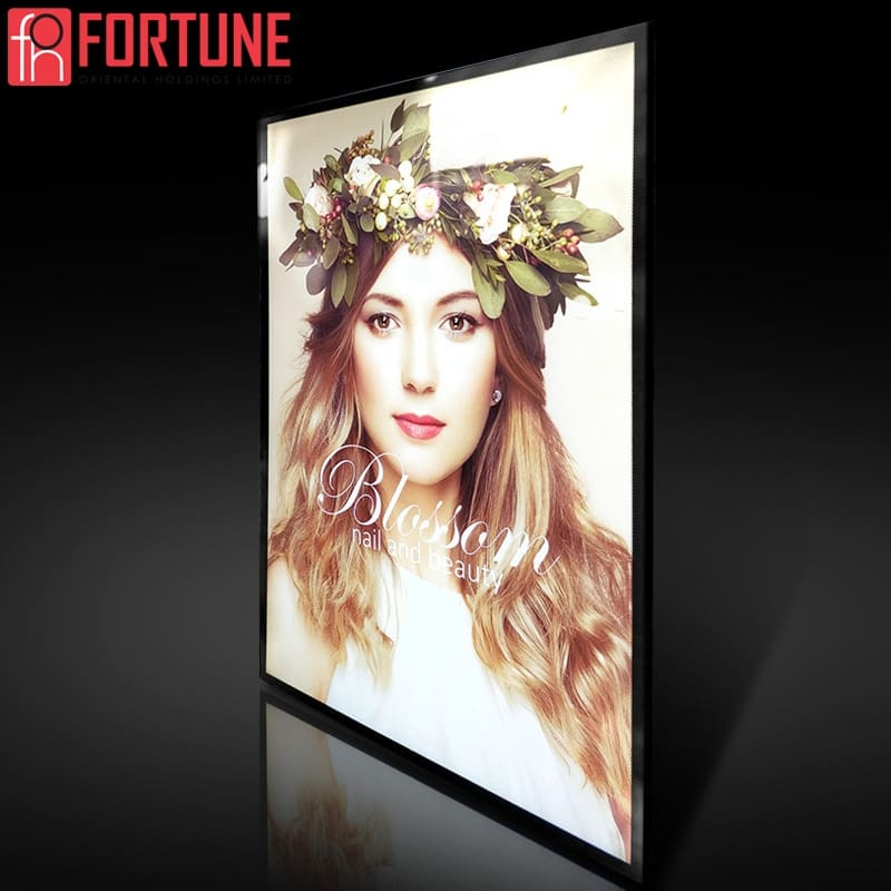 Led Advertising Light Box For Restaurant Menu Price List LED Illuminate Picture Frame Light Boxes For Movie Poster Frame
