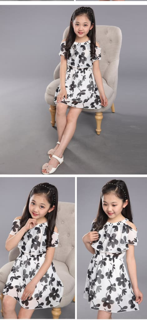 Teenage Girl Dresses Summer Childrens Clothing Kids Flower Dress Chiffon Princess Dresses For Age 7 8 9 10 11 12 Years