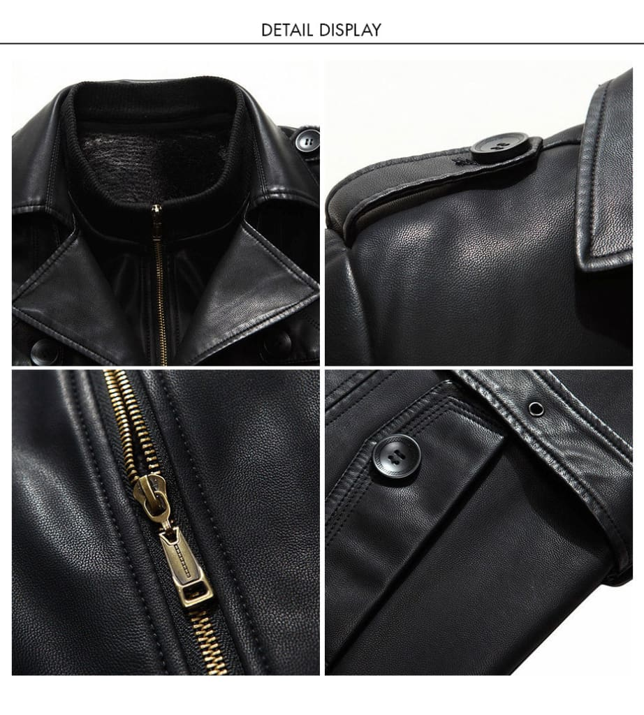 Top Quality Mid-Long Trench Winter Warm Plus Velvet Business Outerwear