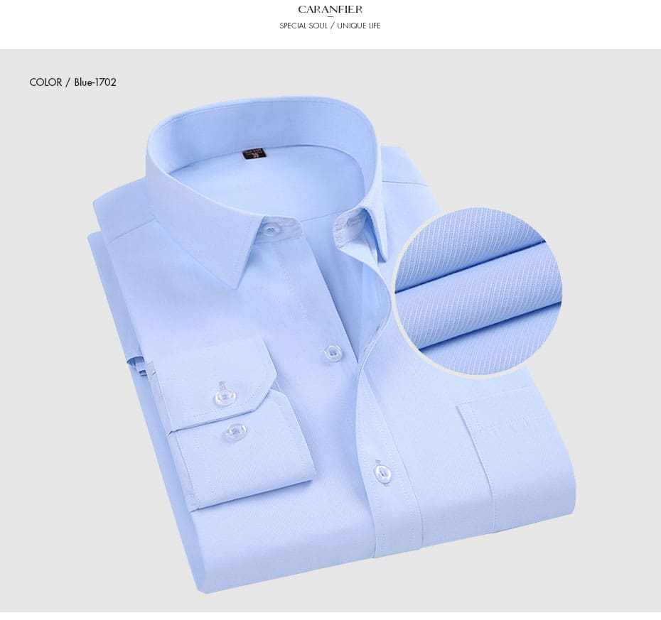 Soft Square Collar Regular Striped Twill Men Dress Shirt