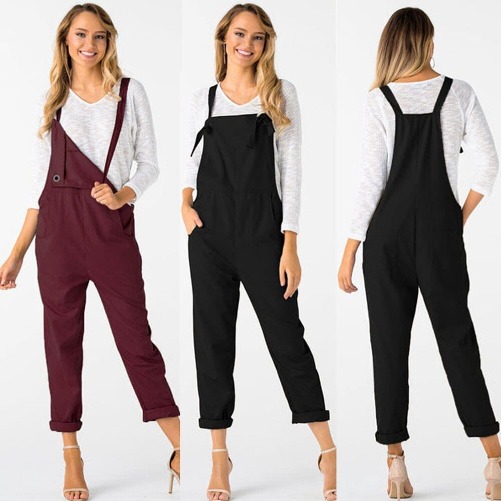 Loose Dungarees Loose Long Pockets Rompers