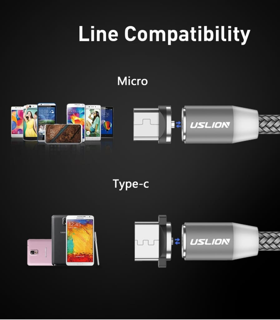 Magnetic USB Cable Fast Charging USB Type C Cable