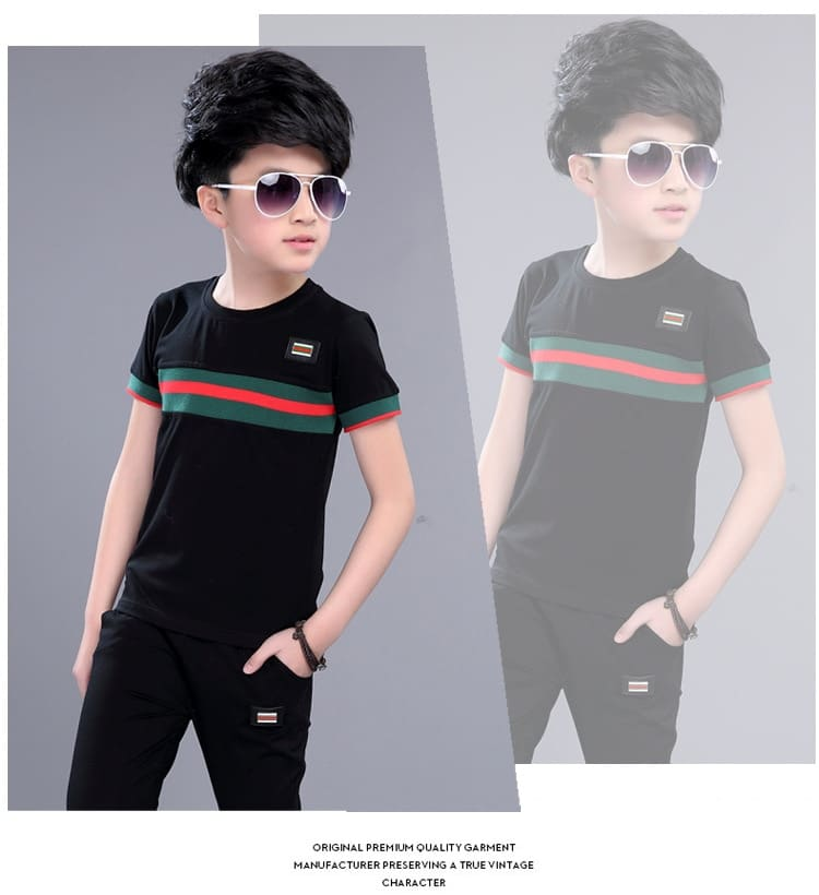 Casual Active Boys Clothes Set Summer Girls Teenage T Shirt Shorts Children Suit 2019 Kids Outfits Sports Clothing For Boys 2Pcs (7)