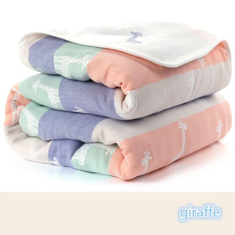 Baby Blankets Newborn Muslin Cotton 6 Layers Thick Swaddle Kids Receiving Blankets Children Cover Bedding