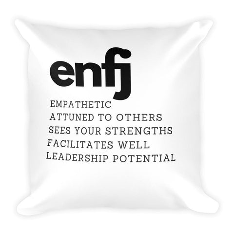 ENFJ Square Pillow-Pillow-Total Extrovert-[extravert t shirt]-[personalitee]-[mbti clothing]-Total Extrovert