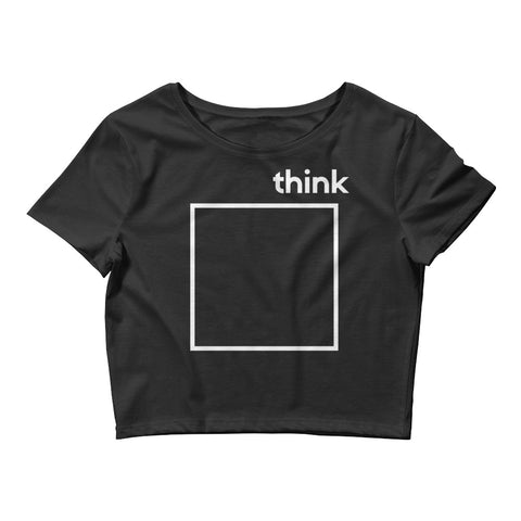 BRAND NEW!! 'Think Outside the BOX' Crop Top-Total Extrovert-[extravert t shirt]-[personalitee]-[mbti clothing]-Total Extrovert