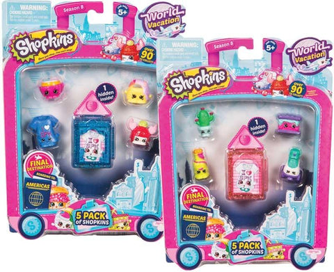 Dolls & Playsets - Shopkins 5 Pack - S8 Wave 3