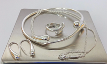 Load image into Gallery viewer, Exquisite Jewellery Silver Water Drop Necklace/Rings/Earring Set-- Save 66%!!