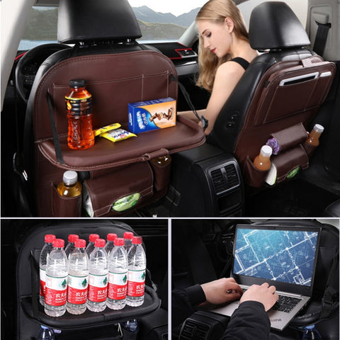 Luxury Leather Universal Car Seat Organizer