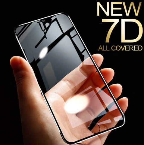 The 7D Aluminum Alloy Tempered Glass Cover For iPhone 6 6S 7 X XR XS Max 8