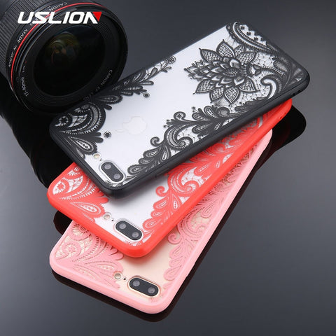 2019 PHONE CASES RETRO: iPhone X XS Max XR X/8/7/6/5: Saucy Floral Designs +  Black Lace Flower Back Cover Cases