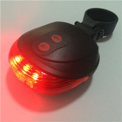 Projected Double Laser Cycling  5 LED/7 Mode Bicycle Bike Light