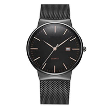 Load image into Gallery viewer, Men's Black Classic Calendar Quartz Watch - Sophisticated Timeless Elegance!