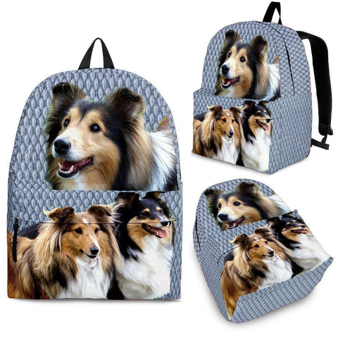 Shetland Sheepdog Print Backpack-Express Shipping