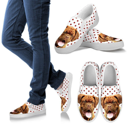 Bordeaux Mastiff (Dogue de Bordeaux) Print Slip Ons For Women- Express Shipping