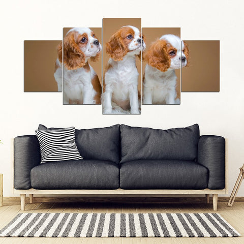 Cavalier King Charles Spaniel Print- Piece Framed Canvas- Free Shipping