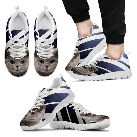 British Shorthair Cat Print Running Shoes For Men-Free Shipping