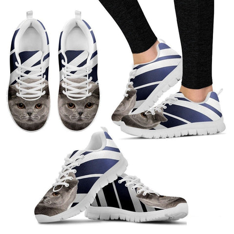British Shorthair Cat Print Running Shoes For Women-Free Shipping