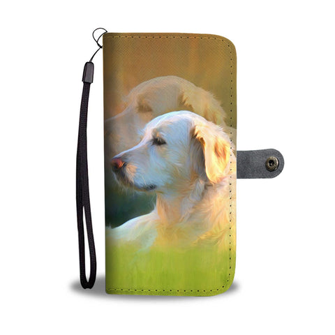 Golden Retriever Dog Print Wallet Case-Free Shipping