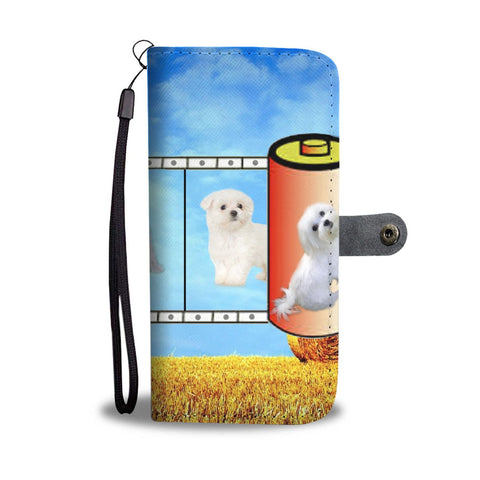 Cute Maltese film reel Print Wallet Case-Free Shipping