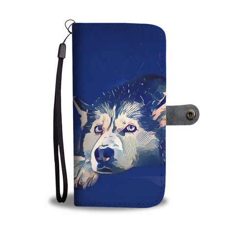 Siberian Husky Dog Art Print Wallet Case-Free Shipping