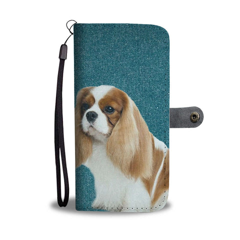 Cute Cavalier King Charles Spaniel Dog Print Wallet Case-Free Shipping