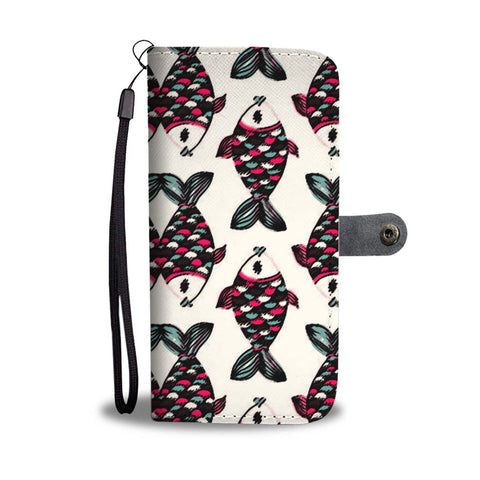 Fish Patterns Print Wallet Case-Free Shipping