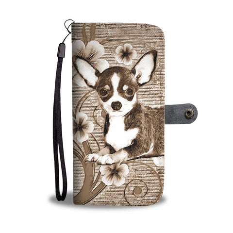 Cute Chihuahua Dog Print Wallet Case-Free Shipping