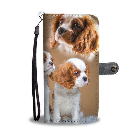 Cute Cavalier King Charles Spaniel Print Wallet Case- Free Shipping