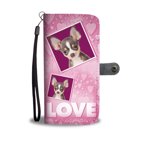 Chihuahua Dog with Love Print Wallet Case-Free Shipping