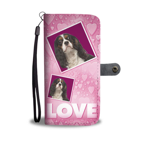 Cavalier King Charles Spaniel with Love Print Wallet Case-Free Shipping
