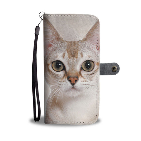 Amazing Singapura Cat Print Wallet Case-Free Shipping