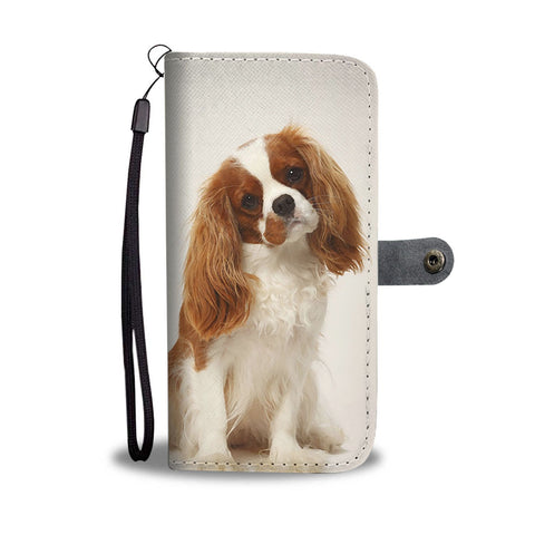 Lovely Cavalier King Charles Spaniel Print Wallet Case- Free Shipping