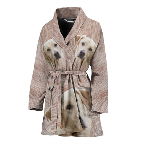 Labrador Retriever Print Women's Bath Robe-Free Shipping