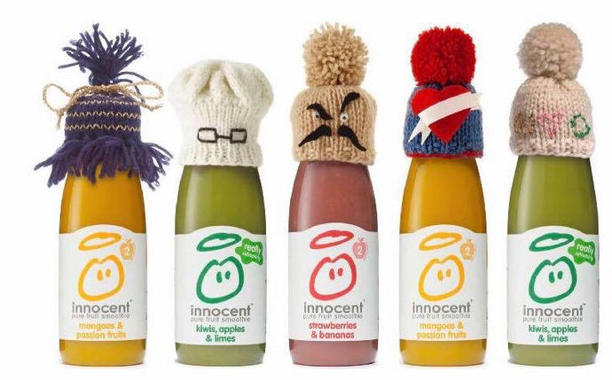 Innocent Smoothie Big Knit- Northumberland Beanie Hat Pattern
