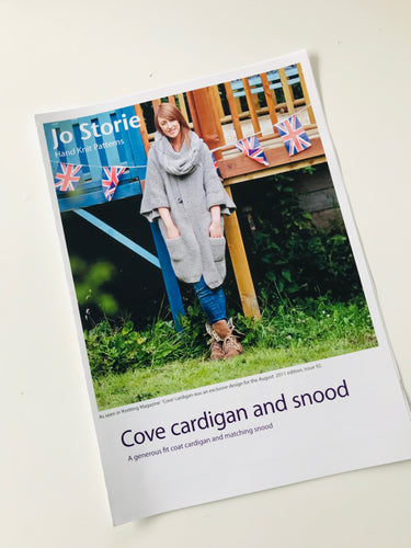 Cove Cardigan and Snood Knitting Pattern Leaflet