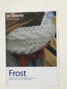 Frost Headband Printed Knitting Pattern