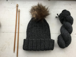 Eildon Hat BareFaced Knitting Kit