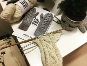 Melrose Mittens BareFaced Knitting Kit