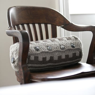 Navajo Knitted Cushion Knitting Pattern