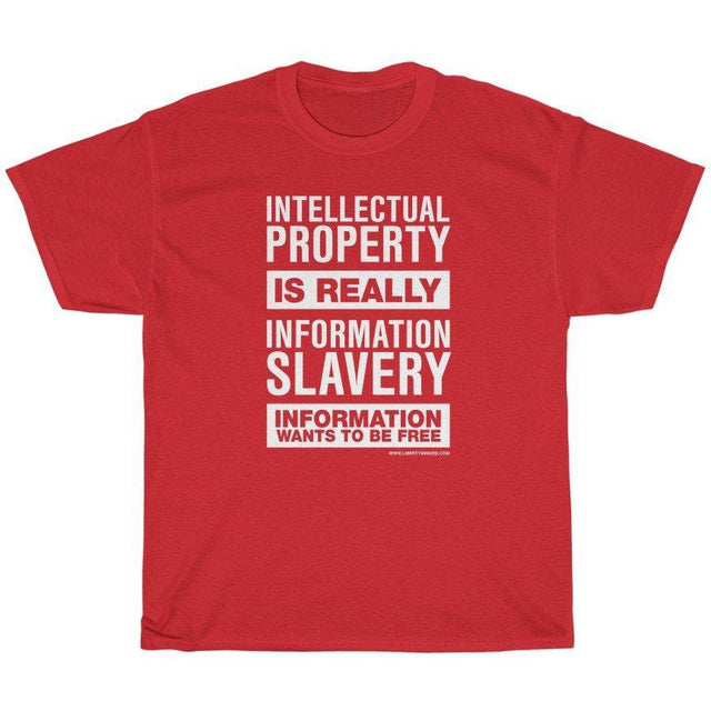 Intellectual Property Is Information Slavery Men's T-Shirt